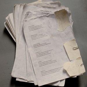 zerlesenes Alice-Manuskript