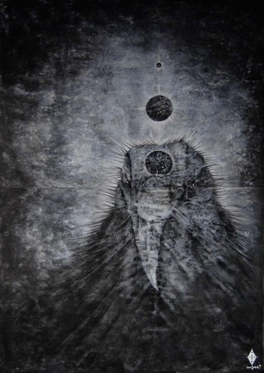 Hugin, schwarz / Hugin, black (Odins dunkler Gedanke / Odin´s dark thought)