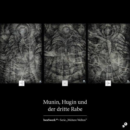 Zeichenprojekt: Weitere Welten • Munin, Hugin und der dritte Rabe